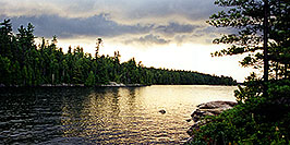 /images/133/1997-10-tema-nip-camp-pano.jpg - #00071: view from an island on Anima Nipissing Lake … Oct 1997 -- Anima Nipissing Lake, Temagami, Ontario.Canada