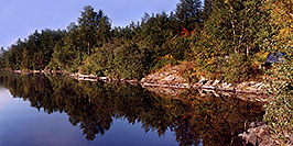 /images/133/1997-10-tema-rabbit-lake2-pano.jpg - #00074: morning at Rabbit Lake … August 1997 -- Rabbit Lake, Temagami, Ontario.Canada