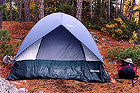/images/133/1998-10-spalding-tent.jpg - #00160: my tent at Anima Nipissing lake  … Oct 1998 -- Anima Nipissing Lake, Temagami, Ontario.Canada