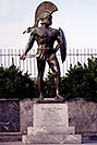 /images/133/1998-12-sparti-spartan2-v.jpg - #00225: Spartan statue … images of Sparti … Dec 1998 -- Sparti, Greece