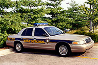 /images/133/1999-07-kentucky-police1.jpg - #00334: Kentucky Vehicle Enforcement police car in Lousville … July 1999 -- Louisville, Kentucky