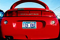 /images/133/1999-07-kentucky-red-eclips.jpg - #00336: red Mitsubishi Eclipse GS … hunting for my Jeep Cherokee in Lousville, Kentucky … July 1999 -- Louisville, Kentucky
