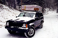 /images/133/1999-09-indep-jeep-snow1.jpg - #00390: moving from Chicago to Phoenix … camping near Independence Pass … Sept 1999 -- Independence Pass, Colorado