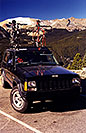 /images/133/1999-11-jeep-with-2-bikes2.jpg - #00457: my Bikes near Estes Park … moving Chicago to Phoenix … Nov 1999 -- Rocky Mountain National Park, Colorado