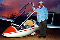 /images/133/2000-02-glider-crown-king.jpg - #00461: Crash landing 17 miles off course … by Crown King … Feb 2000 -- Bumble Bee, Arizona