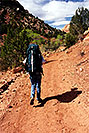 /images/133/2000-04-greater-zion-trail2.jpg - #00480: Backpacking with Rakesh … April 2000 -- Greater Zion Wilderness, Utah