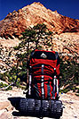 /images/133/2000-05-greater-zion-gregory1-v.jpg - #00497: Gregory Denali backpack … Greater Zion Wilderness … April 2000 -- Greater Zion, Utah