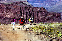 /images/133/2000-08-grand-plateau.jpg - #00554: People approaching Plateau which overlooks Colorado River … July 2000 -- Bright Angel Plateau Point, Grand Canyon, Arizona