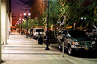 /images/133/2000-08-phoenix-sunset-cars.jpg - #00567: Phoenix downtown at night … August 2000 -- Phoenix, Arizona