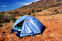 /images/133/2000-08-sedona-camp-tent.jpg - #00584: camping in Sedona … usually without tent ;-) … August 2000 -- Sedona, Arizona