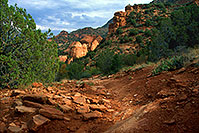 /images/133/2000-08-sedona-dogie-trail3.jpg - #00590: Dogie Trail in Sycamore Canyon … August 2000 -- Sedona, Arizona