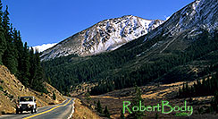 /images/133/2000-09-colo-indep-pano.jpg - 00644: white Jeep Wrangler returning from Independence Pass to Aspen … Sept 2000 -- Independence Pass, Colorado