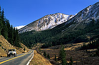 /images/133/2000-09-colo-indep.jpg - 00635: white Jeep Wrangler returning from Independence Pass to Aspen … Sept 2000 -- Independence Pass, Colorado