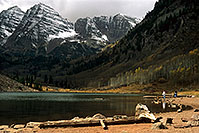 /images/133/2000-09-colo-maroon-bells2.jpg - #00645: Maroon Lake (elev 9,580ft) … Sept 2000 -- Maroon Bells, Colorado