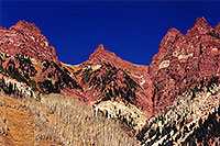 /images/133/2000-09-maroon-bells-side.jpg - #00666: view North of Maroon Bells … Sept 2000 -- Maroon Bells, Colorado