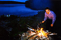 /images/133/2000-09-temagami-peter-fire.jpg - #00678: Peter at Anima Nipissing Lake … Sept 2000 -- Anima Nipissing Lake, Temagami, Ontario.Canada