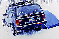 /images/133/2000-12-phx-tor-jeep-tent.jpg - #00722: +6 F morning followed by -6 F morning … Phoenix-Toronto 3,500 mile snow-camping trip … Dec 2000 -- Aspen, Colorado