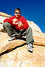 /images/133/2001-01-peter-zion-v.jpg - #00752: Peter in Zion National Park… Jan 2001 -- Zion, Utah