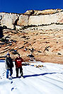 /images/133/2001-01-zion-snow-peter-neon-v.jpg - #00758: Neon & Peter in Zion National Park… Jan 2001 -- Zion, Utah