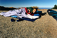 /images/133/2001-07-cali-bigsur-camp.jpg - #00787: Martin, Peter behind, and my sleeping on the right … camping with a view … July 2001 -- Big Sur, California