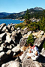 /images/133/2001-07-cali-tahoe-me-rock-v.jpg - #00806: Lake Tahoe … July 2001 -- Lake Tahoe, California