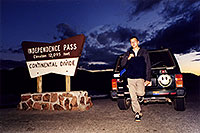 /images/133/2001-07-indep-martin-jeep.jpg - #00838: Martin at Independence Pass … July 2001 -- Independence Pass, Colorado