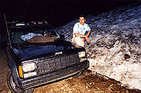 /images/133/2001-07-independence-snow.jpg - 00813: snow at 11,500ft by Independence Pass … July 2001 -- Independence Pass, Colorado