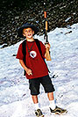 /images/133/2001-07-leadville-kyle-snow-v.jpg - #00829: Kyle … hiking to 12,500ft … July 2001 -- Chalk Mountain, Leadville, Colorado