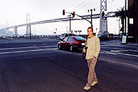 /images/133/2001-07-martin-sf-bridge2.jpg - #00861: Martin in San Francisco, in front of the Golden Gate Bridge … July 2001 -- San Francisco, California