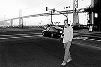 /images/133/2001-07-martin-sf-bridge2bw.jpg - #00862: Martin in San Francisco, in front of the Golden Gate Bridge … July 2001 -- San Francisco, California