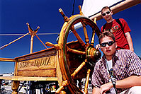 /images/133/2001-07-sd-boat-pete-martin.jpg - #00867: Peter & Martin on a ship in San Diego … July 2001 -- San Diego, California