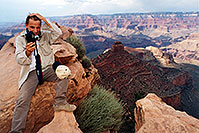 /images/133/2001-08-grand-martin-hair.jpg - #00875: Martin at Ooh-Aah Point (actual name) at South Kaibab trail  … August 2001 -- South Kaibab Trail, Grand Canyon, Arizona