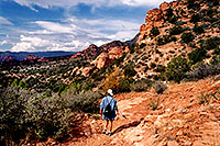 /images/133/2001-11-sedona-syca-walk1.jpg - #00927: Dogie Trail in Sycamore Canyon … Nov 2001 -- Sedona, Arizona