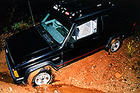 /images/133/2002-08-jeep-no-trail.jpg - 01055: so maybe cross country in the rain at night was a bad idea? … August 2002 -- Bumble Bee, Arizona
