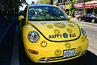 /images/133/2002-08-toronto-happy-bug.jpg - 01127: Happy yellow VW Beetle Bug in Toronto … August 2002 -- Toronto, Ontario.Canada