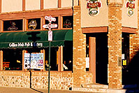 /images/133/2003-01-flagstaff-collins.jpg - #01136: Collins Irish Pub and Eatery in Flagstaff, at the corner of Route 66 and Leroux … Jan 2003 -- Flagstaff, Arizona