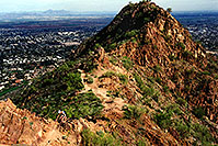 /images/133/2003-03-camelback-face2-1.jpg - #01124: view from Camelback Mountain towards second peak … March 2003 -- Camelback Mountain, Phoenix, Arizona