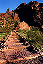 /images/133/2003-03-camelback-trail1.jpg - #01147: trail up Camelback Mountain … March 2003 -- Camelback Mountain, Phoenix, Arizona