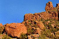 /images/133/2003-03-camelback-trail2.jpg - #01140: there is an easier way up Camelback Mountain … March 2003 -- Camelback Mountain, Phoenix, Arizona