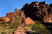 /images/133/2003-03-camelback-trail5.jpg - #01151: trail bottom of Camelback Mountain … March 2003 -- Camelback Mountain, Phoenix, Arizona