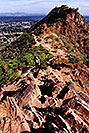 /images/133/2003-03-camelback-trail6.jpg - #01152: view from Camelback Mountain towards second peak … March 2003 -- Camelback Mountain, Phoenix, Arizona