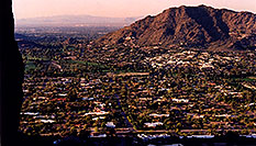 /images/133/2003-03-camelback-trail7.jpg - #01153: view of Phoenix from Camelback Mountain … March 2003 -- Camelback Mountain, Phoenix, Arizona