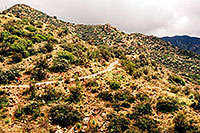 /images/133/2003-03-reavis-cycle-2.jpg - #01152: wet Reavis Ranch Trail in Superstition Mountains … March 2003 -- Superstitions, Arizona