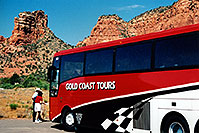 /images/133/2003-06-sedona-bell-bus1.jpg - #01244: Bell Rock in Oak Creek… June 2003 -- Bell Rock, Sedona, Arizona