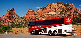 /images/133/2003-06-sedona-bell-bus2.jpg - #01245: Bell Rock in Oak Creek… June 2003 -- Bell Rock, Sedona, Arizona