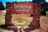 /images/133/2003-06-sedona-sign-founded.jpg - #01244: views of Sedona … June 2003 -- Sedona, Arizona