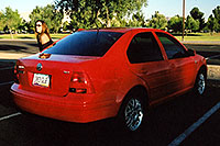/images/133/2003-07-michelle-red-jetta.jpg - #01275: Michelle and her red VW Jetta … July 2003 -- Phoenix, Arizona