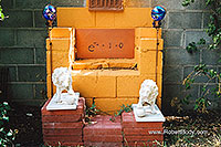 /images/133/2003-08-backyard-shrine.jpg - #01267: images in Santa Fe … August 2003 -- Santa Fe, New Mexico