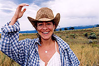 /images/133/2003-08-sonia-field1.jpg - #01317: Sonia near Chaco, New Mexico … August 2003 -- Chaco, New Mexico