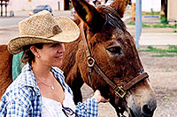 /images/133/2003-08-sonia-mule1.jpg - #01321: Sonia in Chaco, New Mexico … August 2003 -- Chaco, New Mexico